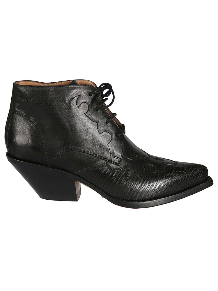 Buttero Elyse Lace-up Boots in nero