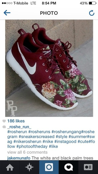 competitive price 7075c f04f7 shoes nike roshe run champs customized