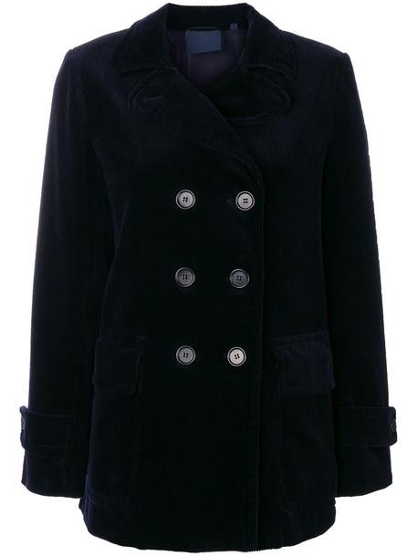 ASPESI jacket double breasted women cotton blue wool