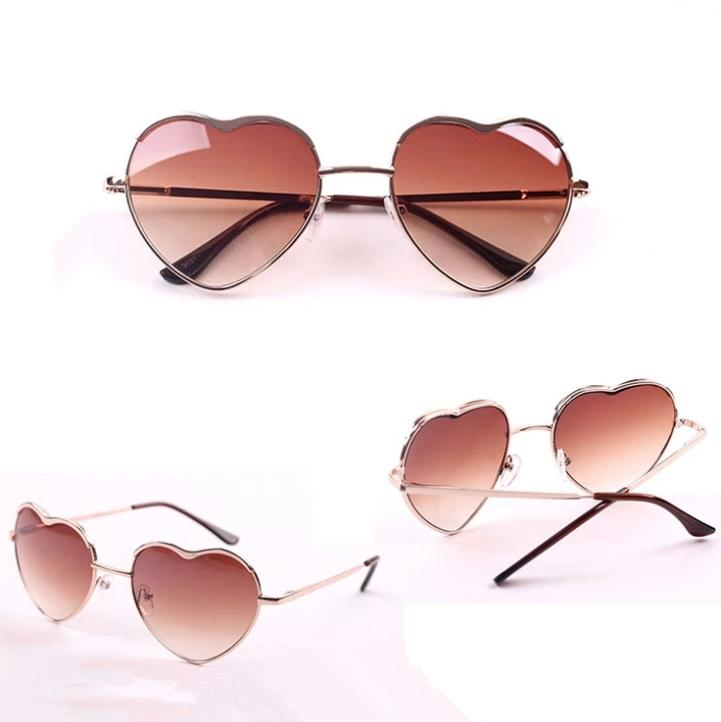 2014 New Arrival Super Fashion Heart Shape Metal Frame Glasses Women Oculus Cool Summer Oculos De sol Coating Glasses n409-in Sunglasses from Apparel & Accessories on Aliexpress.com