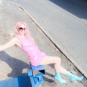 kayla hadlington,blogger,dress,sunglasses,shoes