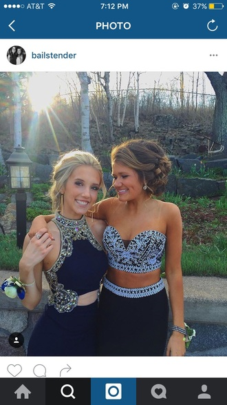 dress black diamonds prom silver black dress blue blue dress prom dress prom gown