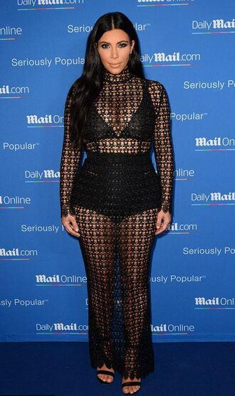 dress gown black dress maxi dress mesh kim kardashian sandals black underwear prom dress turtleneck shoes