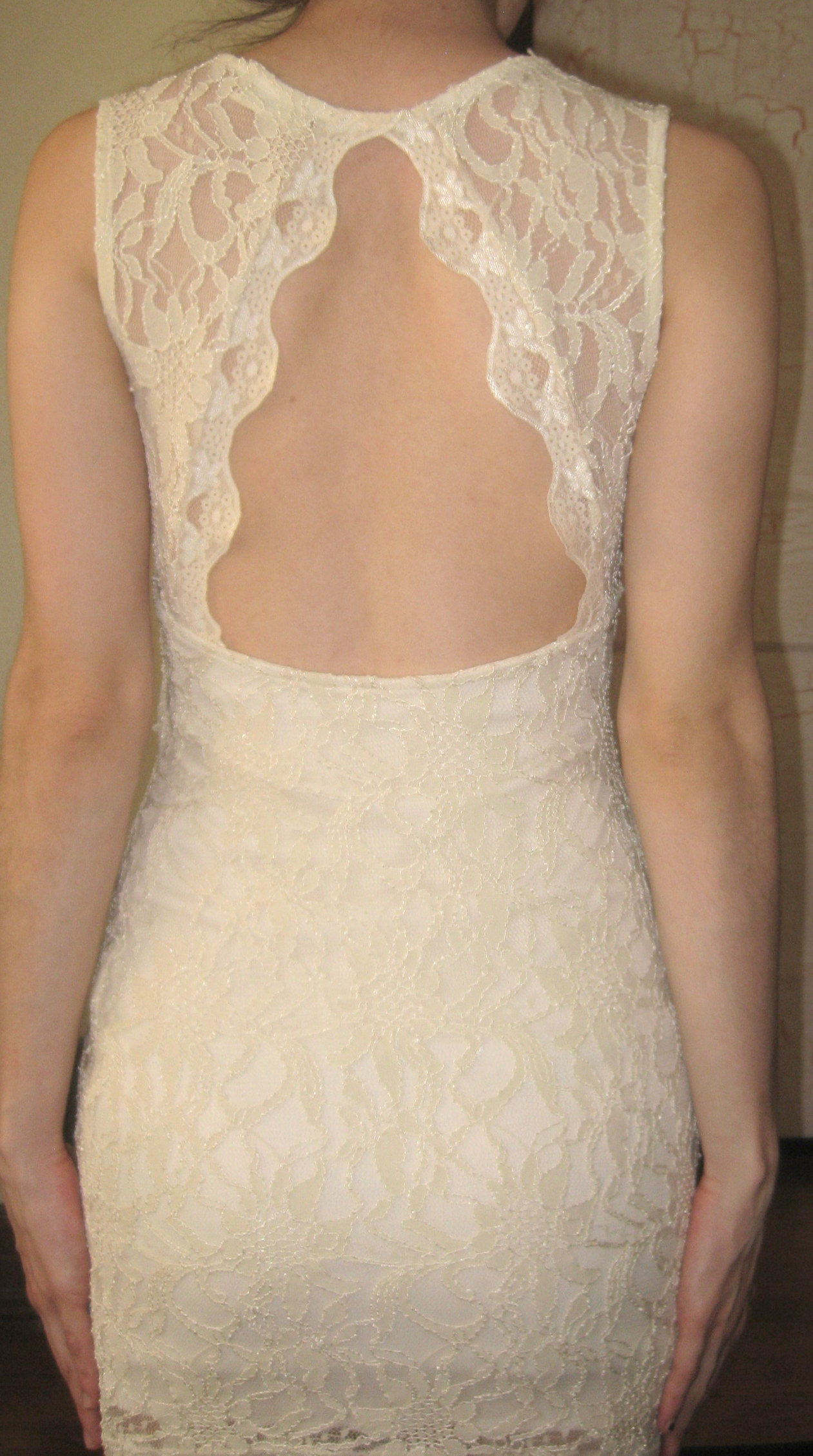 Tobi white lace cut out back dress size s from nightmere clothing on storenvy