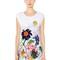 Sleeveless printed cotton jersey t-shirt