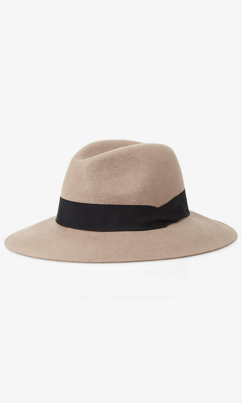 WOOL FELT FEDORA HAT from EXPRESS