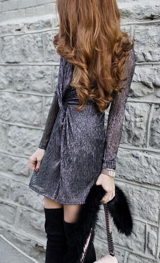 dress disco dress party dress glitter dress glitter silver silver dress long sleeve dress mini dress new year dresses