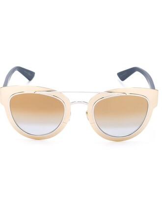metal women sunglasses blue