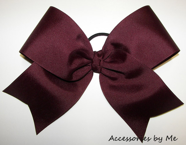 jewels burgundy cheerleading ribbon