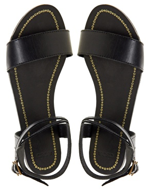 ASOS | ASOS FREEDOM Leather Flat Sandals at ASOS