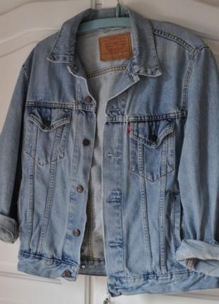 promo code 28c7a 5d37e Original Vintage Levis Jeans Jacke Hellblau