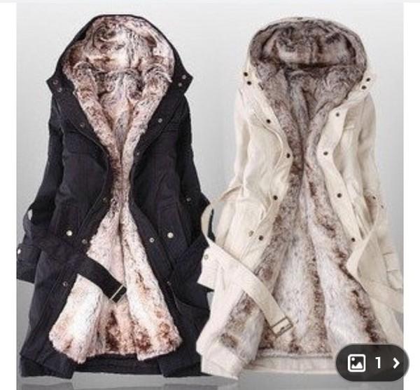 coat white winter coat long fur coat