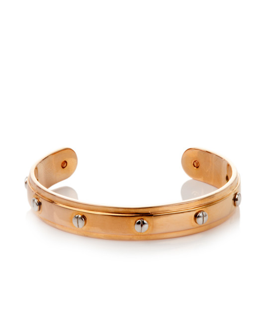 rose gold screw you baby cuff - gold plated bracelet - unique bracelets