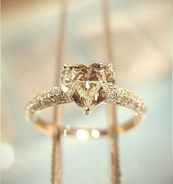 jewels engagement ring gold ring ring gold heart