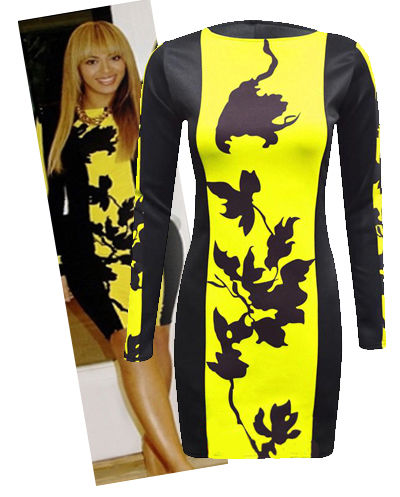 Robe Moulante Beyonce Avec Imprimé Floral Pour Femme MTC | eBay