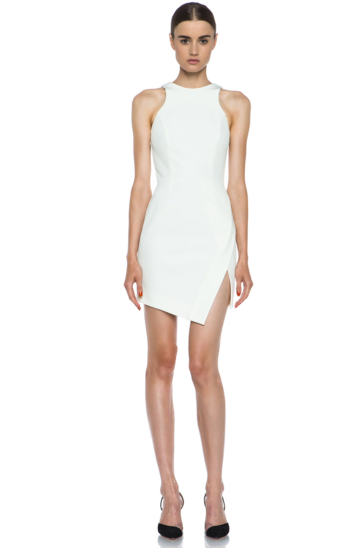 NICHOLAS|Wrap Skirt Silk Dress in Milk
