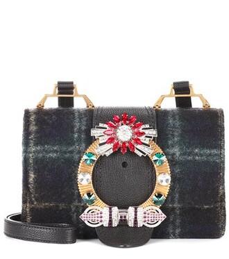 embellished bag shoulder bag wool blue