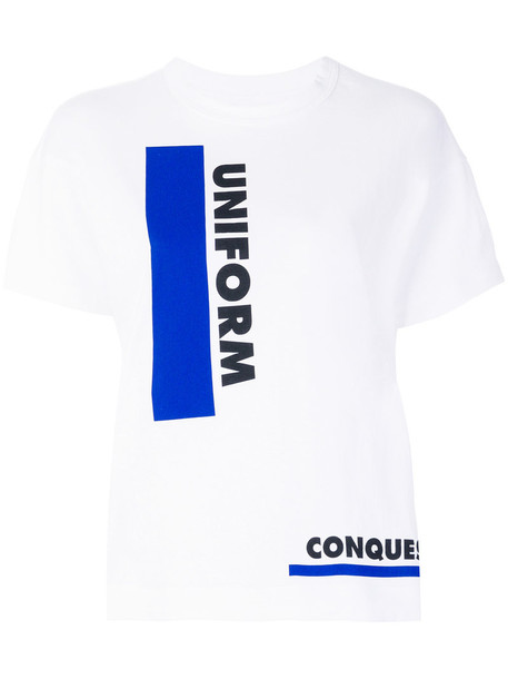 Sacai t-shirt shirt printed t-shirt t-shirt women white cotton top