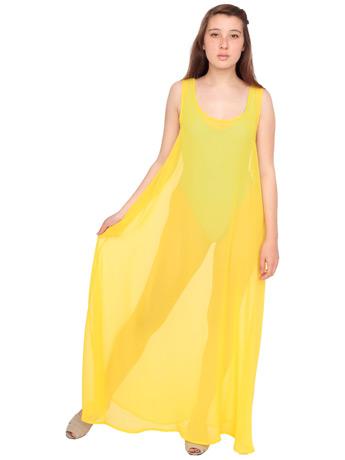 Chiffon a line maxi dress