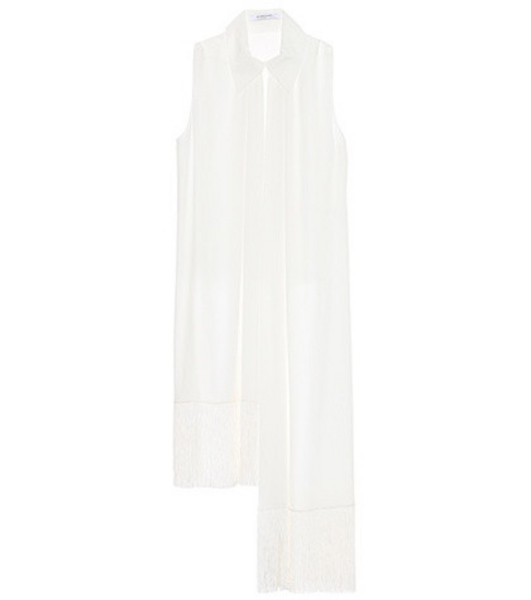 Givenchy Assymetrical silk blouse in white