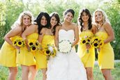 dress,bridesmaid,yellow dress