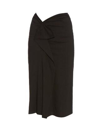 skirt midi skirt ruffle midi black