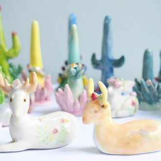 jewels handmade deer aniaml animals ceramic porcelain cute kawaii flowers floral cool gift ideas funny handmade throw handmade jewellry animal print accessories accessory home accessory holiday gift best gifts bff gift birthday