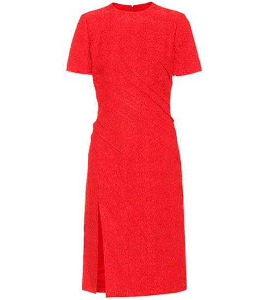 Oscar de la Renta Cloqué dress in red