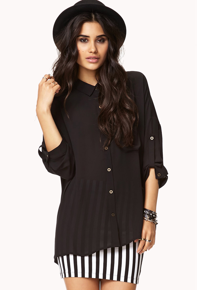 Boxy Drop Shoulder Shirt | FOREVER21 - 2000074639