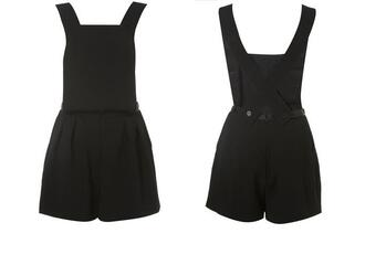 romper jumpsuit topshop black crossed straps