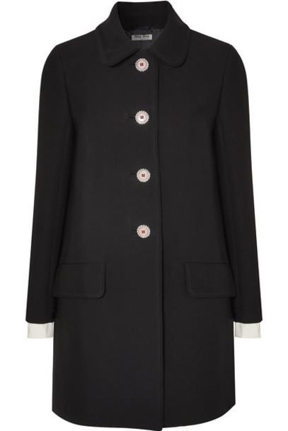 Miu Miu coat embellished black