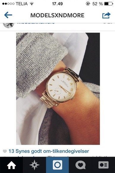 marc jacobs jewels gold watch