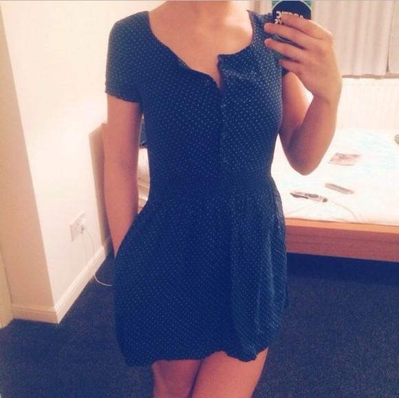 polka dots vintage cute dress