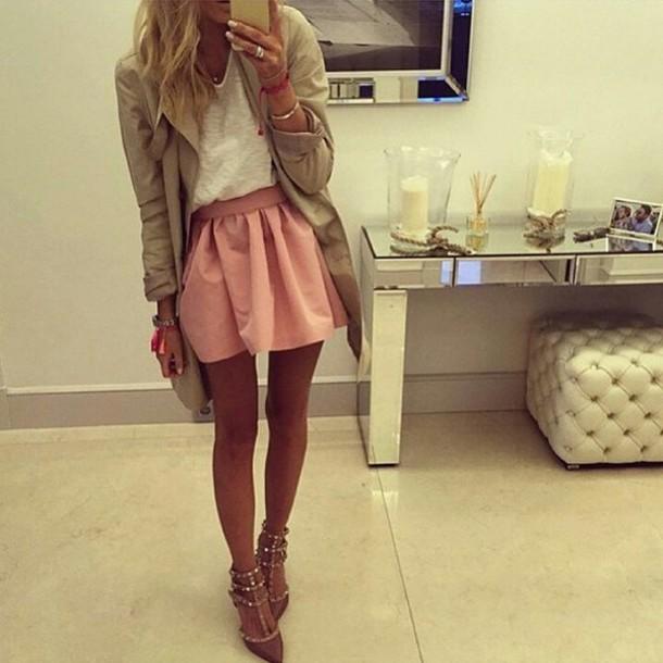 skirt pink skirt fashion