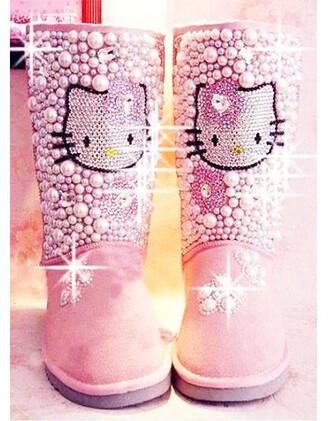 victoria beckham shoes victoria's secret chanel boots winter boots ugg boots ugg custom pink ugg pink boots hello kitty hello kitty shoes hello kitty boots hello kitty pink winter outfits luxury cute boots kardashians model new york city paris los angeles girl woman princess princess boots