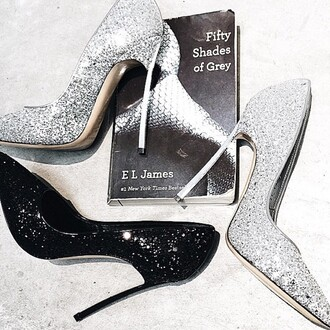 shoes fifty shades of grey at lvr pumps glitter sparkle grey silver black luxury fifty shades of grey elegant italian shoes