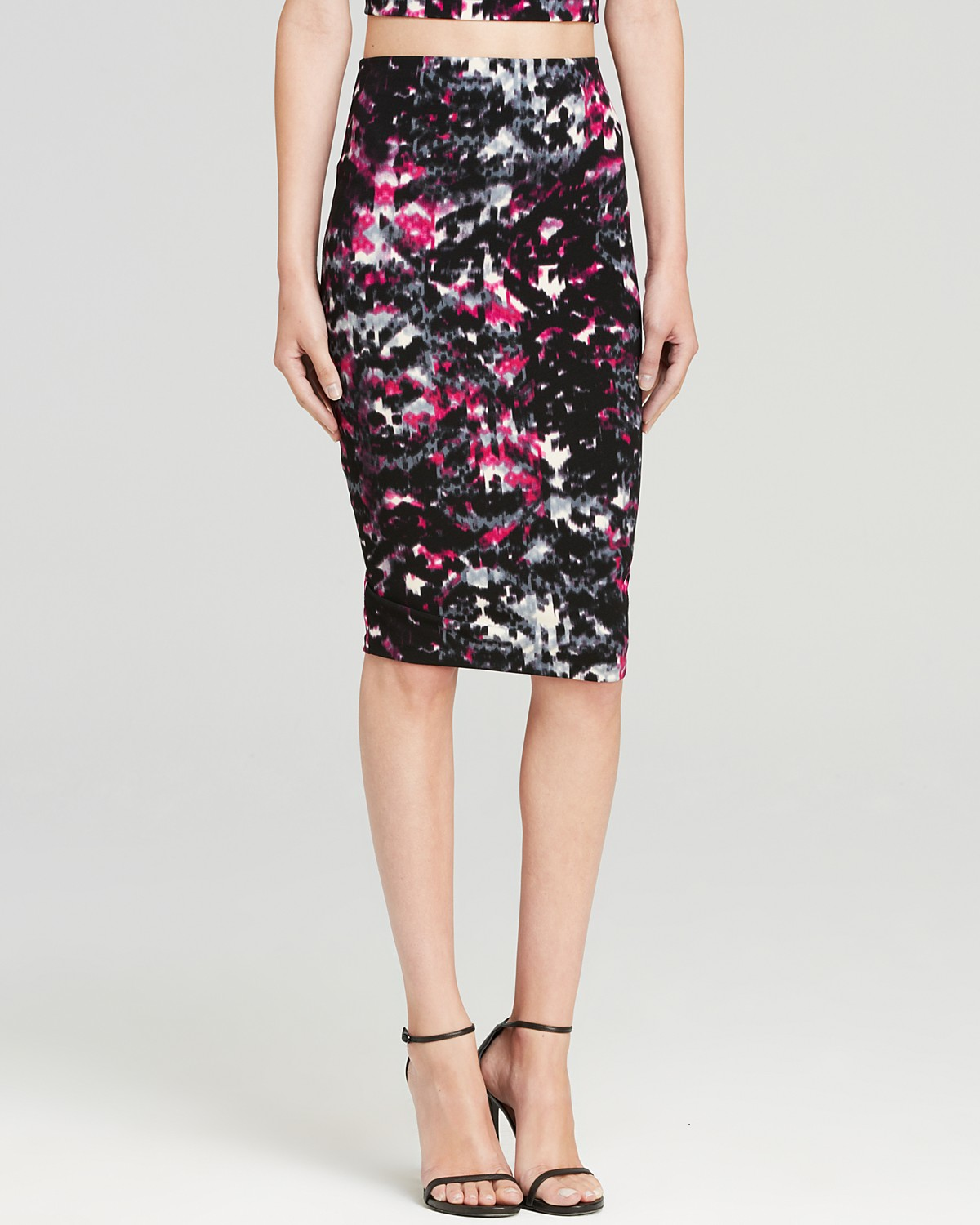 AQUA Skirt - Textured Knee-Length Pencil | Bloomingdale's