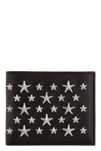 mark black star studs bifold wallet accessories menswear bag