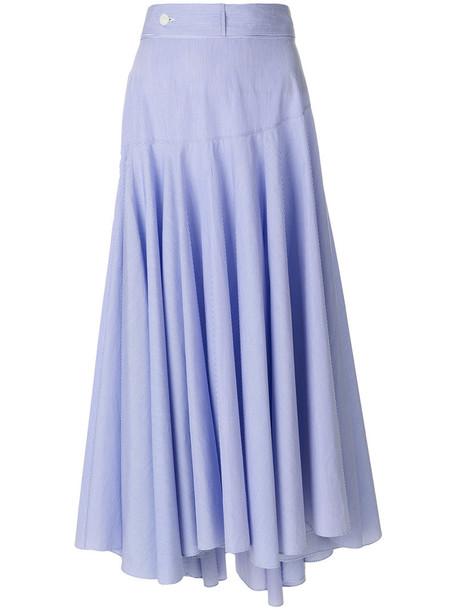 LOEWE skirt women cotton blue