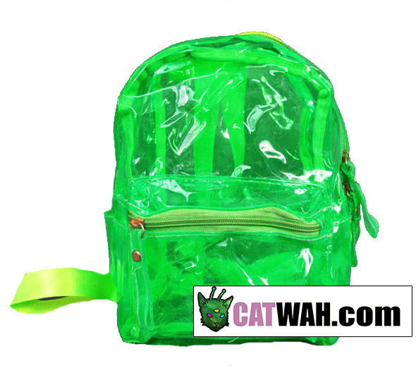 Clear neon backpack