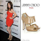 shoes,jimmy choo,jimmy choo shoes,jimmychoo,nude heels,nude sandals,beige shoes,patent shoes,sexy shoes,celebrity style,anna kendrick