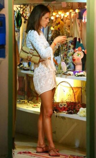 dress cover up alessandra ambrosio summer outfits summer dress white dress