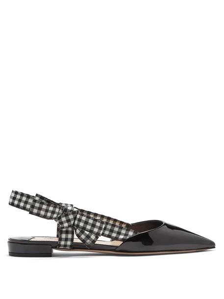 Miu Miu flats leather flats leather black shoes