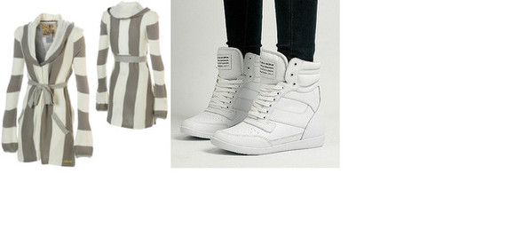 jacket shoes white shoes hightops stripes cardigan wedges fancy white hightops
