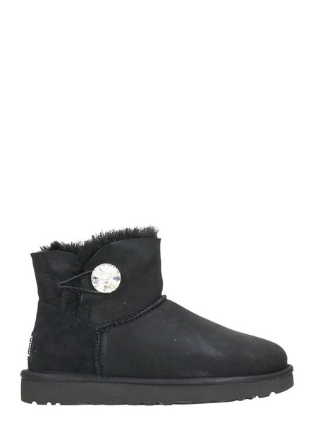 Ugg mini suede boots suede black shoes