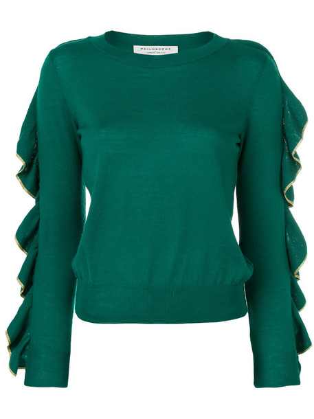 Philosophy di Lorenzo Serafini jumper women wool green sweater