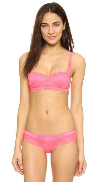 bra neon lips hot pink neon pink underwear