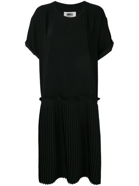 Mm6 Maison Margiela dress shift dress oversized pleated women black