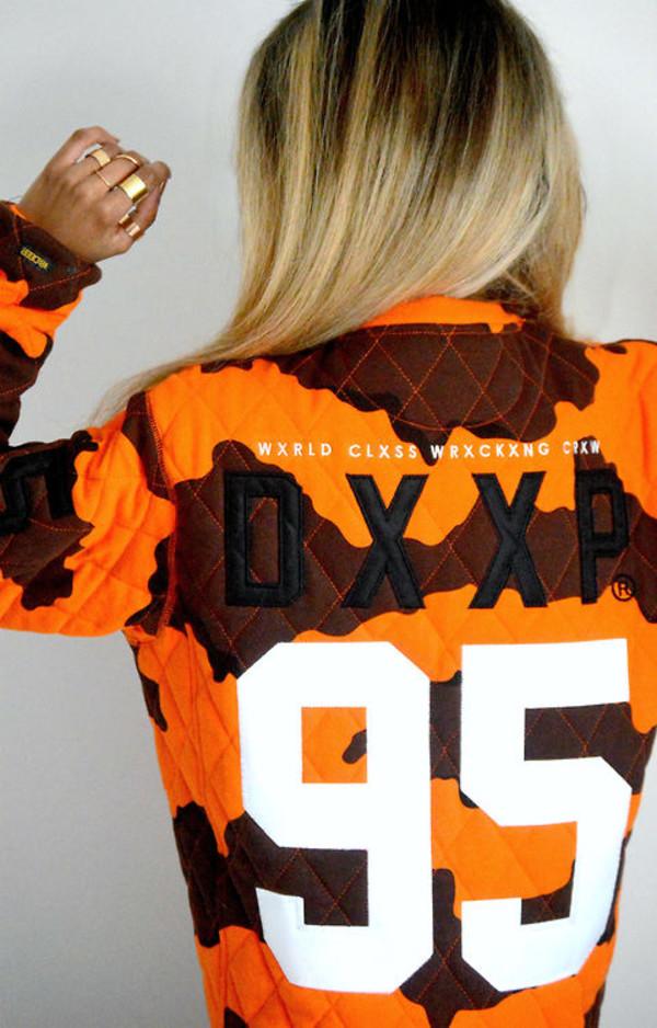 jacket orange brown old school 95 cool dope fashion blond killer 90 kids what ever nice shit white rihanna fashion killa bomber jacket