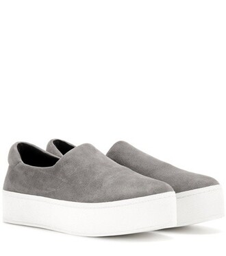 sneakers suede grey shoes